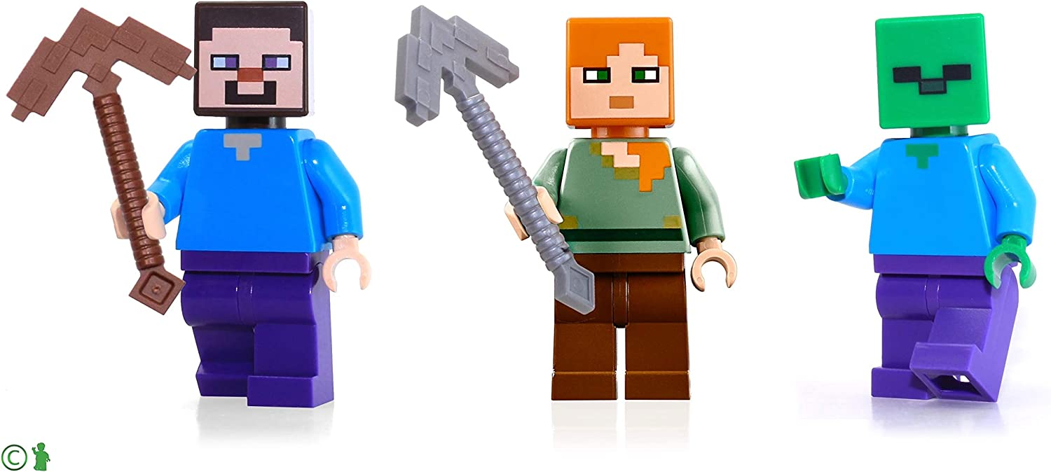 LEGO Minecraft Combo Pack - Steve, Alex, and Zombie Minifigures