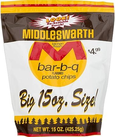amazon com middleswarth kitchen fresh potato chips bar b q flavored