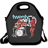 Twenty One Pilots Cartoon Design Lunch Box Bag For Kids And Adult,lunch Tote Lunch Holder With Adjustable Strap For Men Women Boys Girls,This Design For Portable, Oblique Cross,double Shoulder