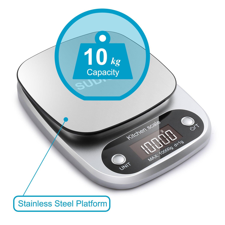 Amazon.com: Sudion Digital Kitchen Scale, 10kg Food Scale ...