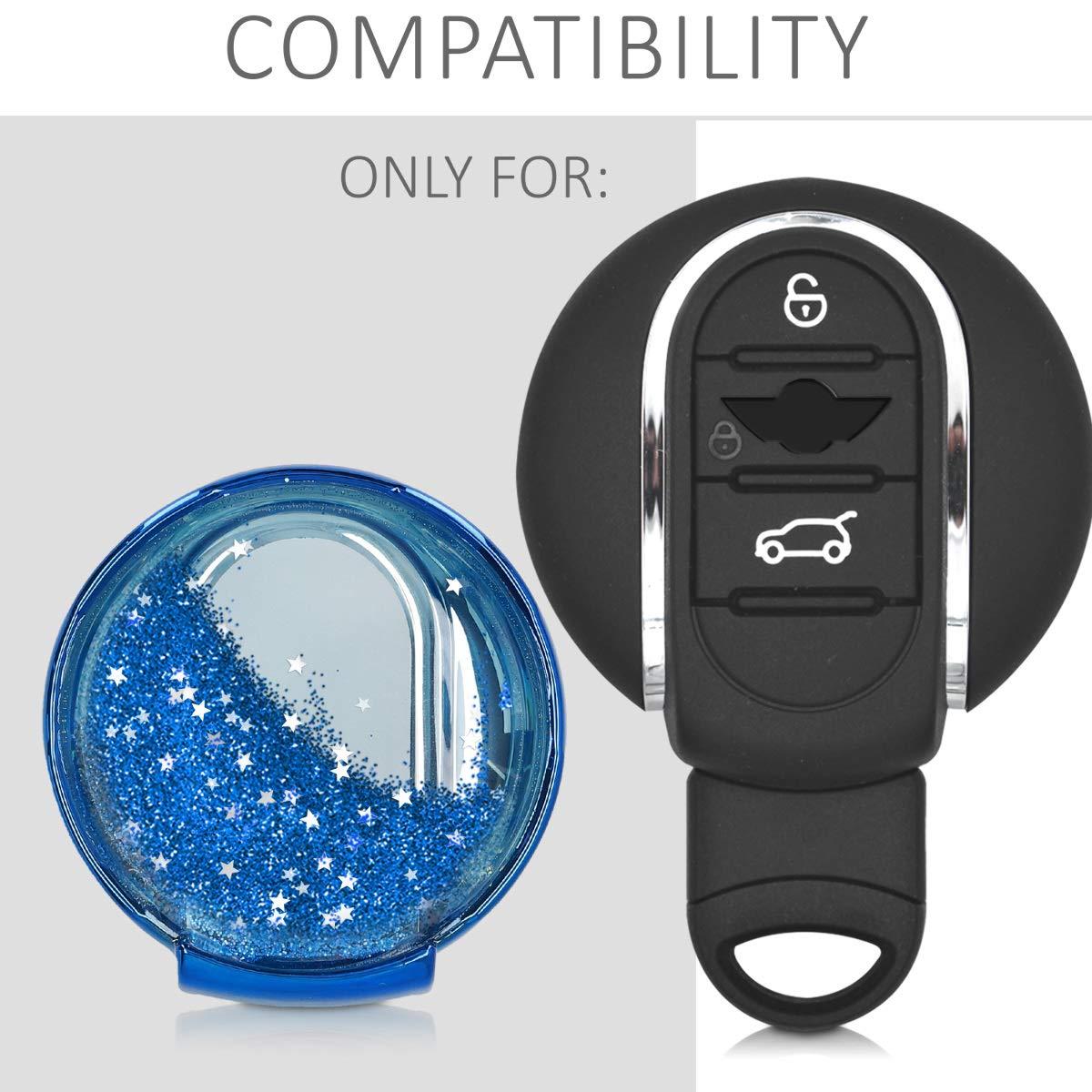 Silver//Metallic Silver kwmobile Car Key Cover for Mini Soft TPU Silicone Protective Key Fob Cover for Mini 3 Button Car Key Smart Key