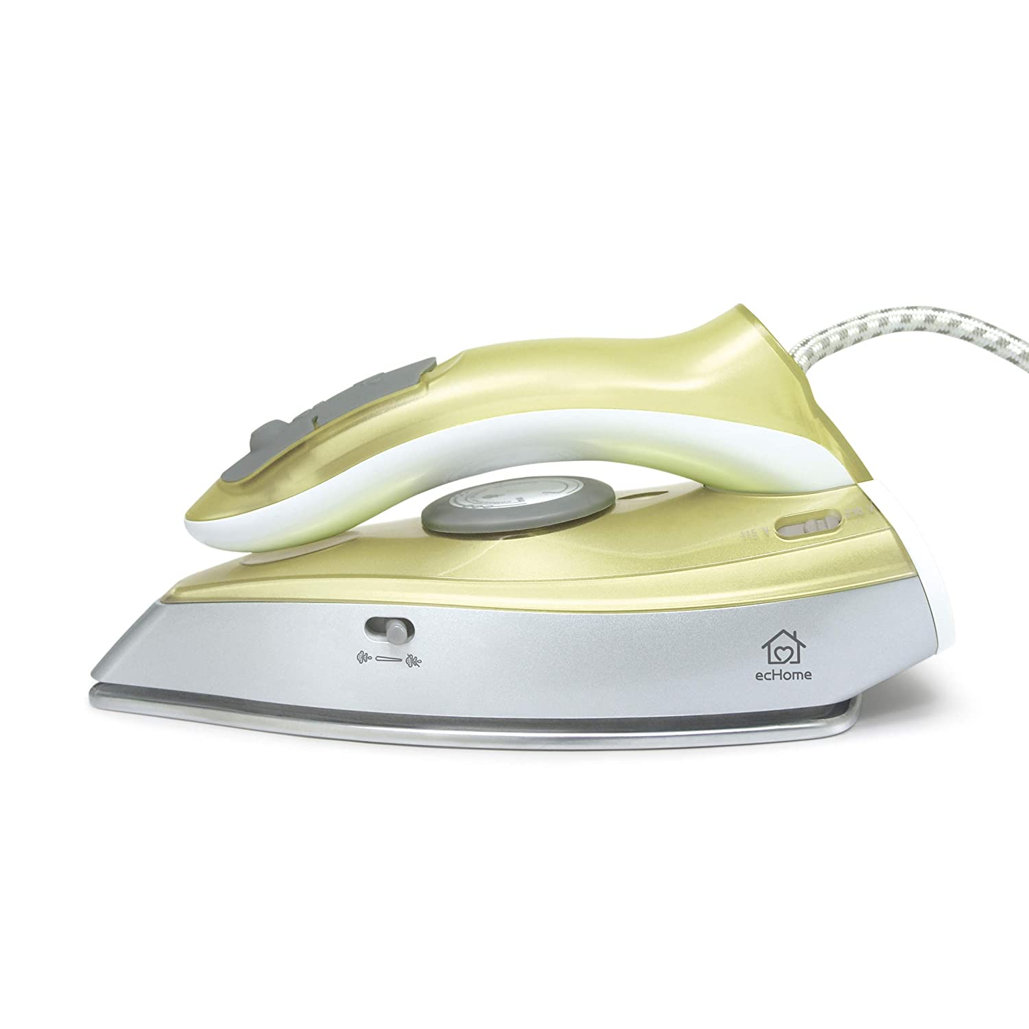 ecHome Foldable Handle Steam Iron 1100W Dual Voltage Travel Small Easy Folding