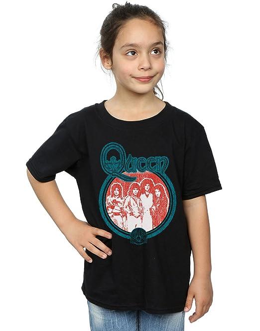 Absolute Cult Queen Niñas Vintage Band Photo Camiseta: Amazon.es: Ropa y accesorios