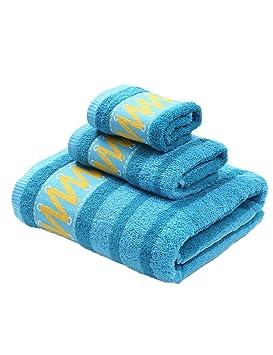 Toalla de algodón simple absorbente toallas suaves grandes Toalla suave de adulto de tres piezas (4 colores opcional) (Color : 4) : Amazon.es: Hogar