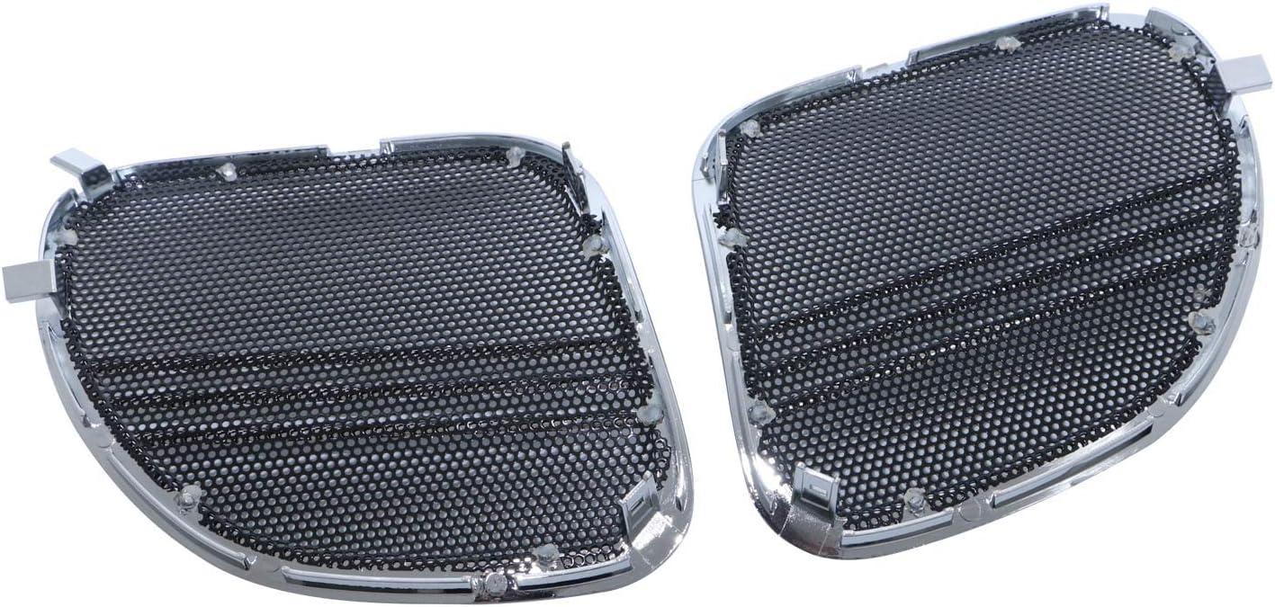Chrome Tri-Line Speaker Grills Cover Trim For Harley Davidson Touring Road Glide 2015-2018