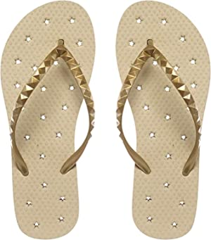Showaflops Womens' Antimicrobial Shower & Water Sandals for Pool, Beach, Dorm and Gym - Hearts & Stars Collection