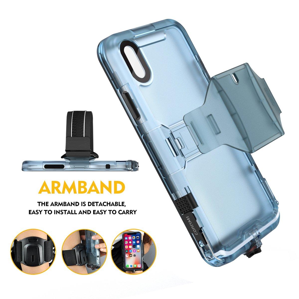 Cornmi iPhone X Waterproof Case, Full Sealed IP68 Certified Waterproof Shockproof Snowproof Protection Underwater Case for iPhone X 5.2inch (Black) by Cornmi (Image #5)