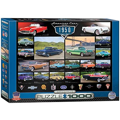 EuroGraphics 1950's Cruisin' Classics Jigsaw Puzzle (1000-Piece): Toys & Games