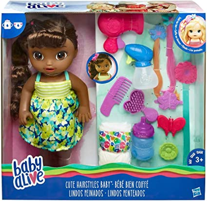 Amazon.com: Baby Alive Cute Hairstyles Baby (African American ...