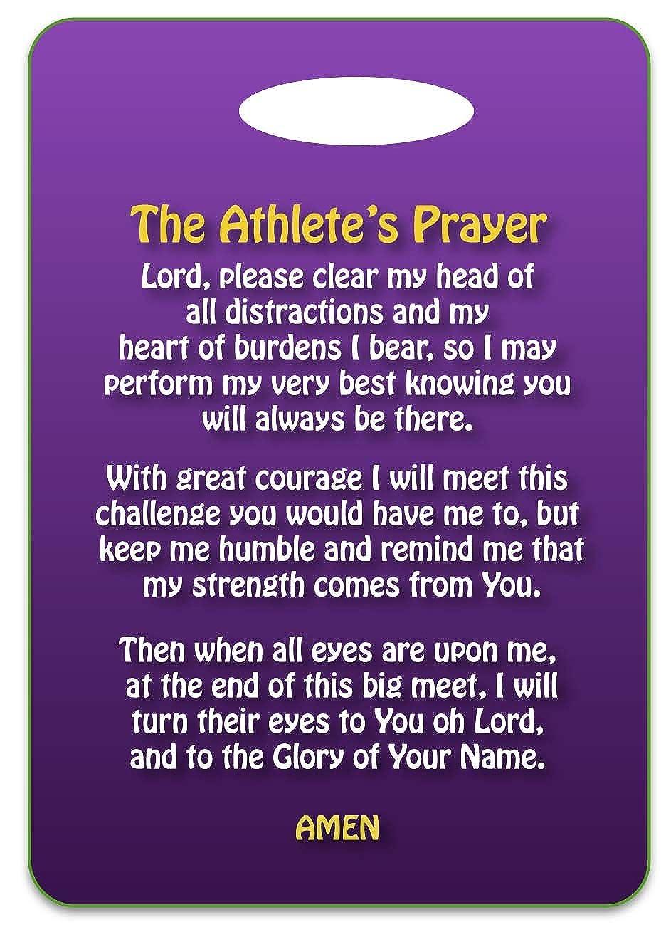 A Prayer選手水泳Swimバッグタグ、スポーツバッグタグ、Swimチームバッグタグ、SwimパーティーFavor InspirationalギフトPersonalized 2.75\ パープル B01NBT3PHS