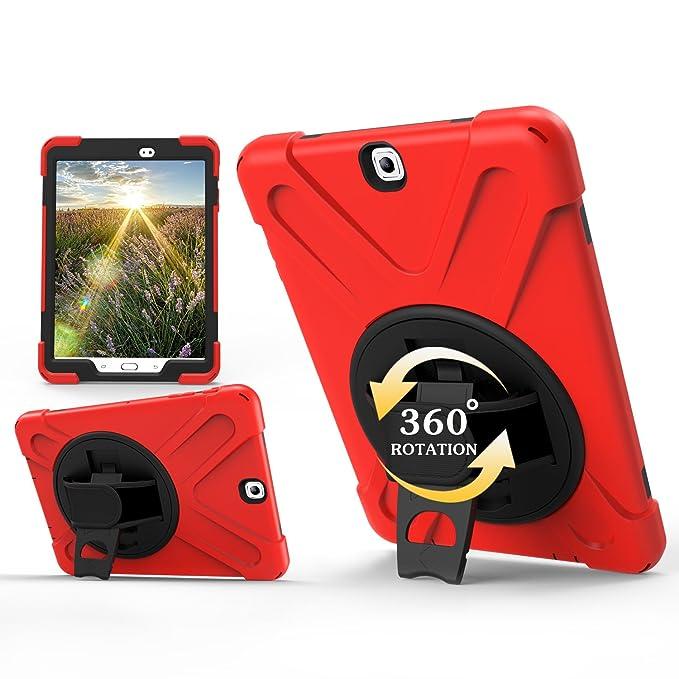 Samsung Galaxy Tab S2 9.7 móvil, roreikes Hybrid PC + Silicona Case Cover, rojo: Amazon.es: Instrumentos musicales