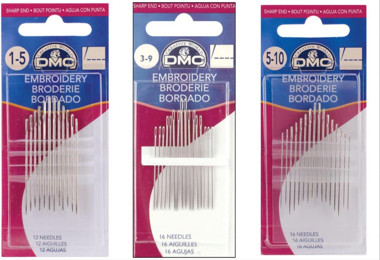 DMC Agujas-bordado-tamaños de 5 a 10-16 agujas