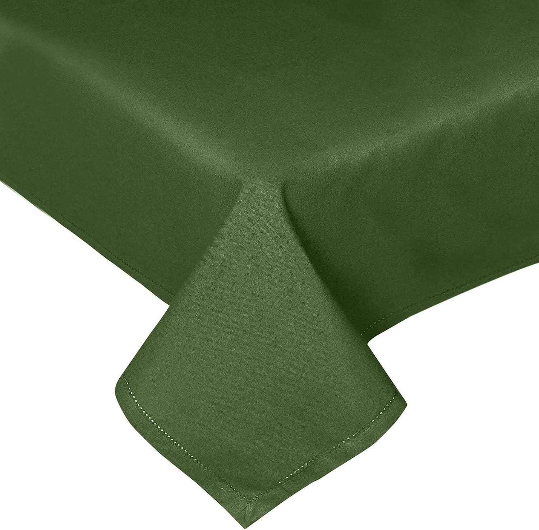 Tiss/é /à la Main Lavable /à 60 Degr/és Centigrade 137 x 137 cm Homescapes Entretien Facile Bordure D/écorative Lilas Nappe 100/% Coton