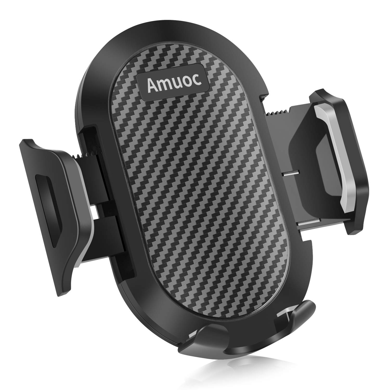 Amuoc Universal Smartphone Car Air Vent Mount Holder Cradle Compatible with iPhone Xs XS Max XR X 8 8+ 7 7+ SE 6s 6+ 6 5s 4 Samsung and All Smartphones (Black)