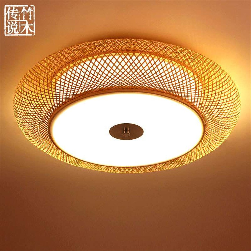 Modern led pendant flush mount ceiling fixtures light japanese style ceiling light zen lighting modern chinese style creative art bamboo light