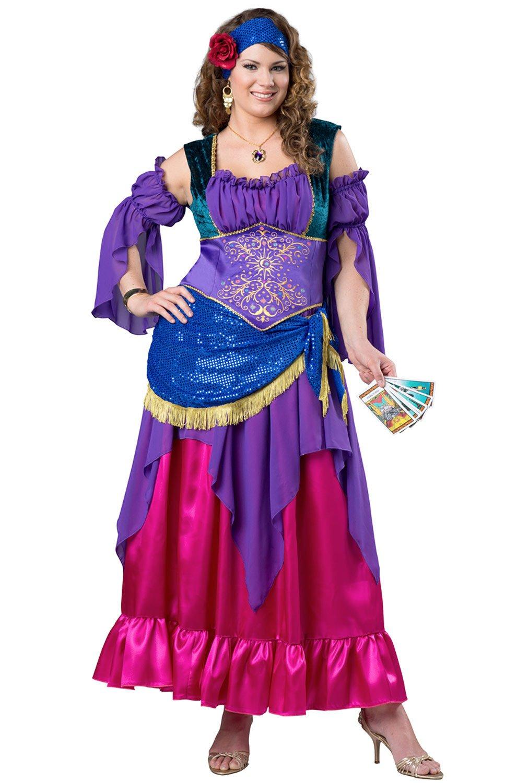 Fun World Women's Plus Size Gypsy Treasure Costume, Multi, 2XL