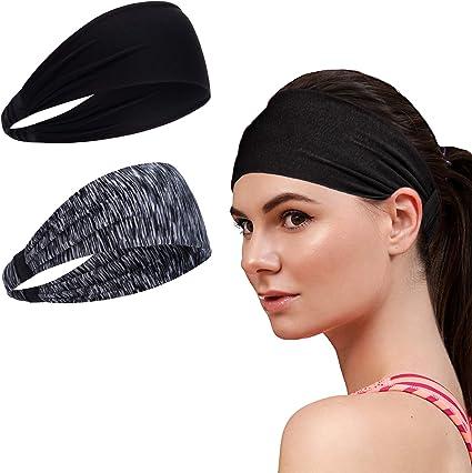 Men and Women Sweatband /& Sports Headband Moisture Wicking Workout Sweatbands US