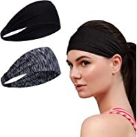 Sweat Bands Headbands for Men and Women - Sport Non-Slip Head Band, Workout Athletic Sweatband, Stretchy Moisture…
