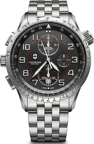 Orologio cronografo in acciaio inossidabile fabbricato in svizzera uomo airboss mach 9 black edition 241722