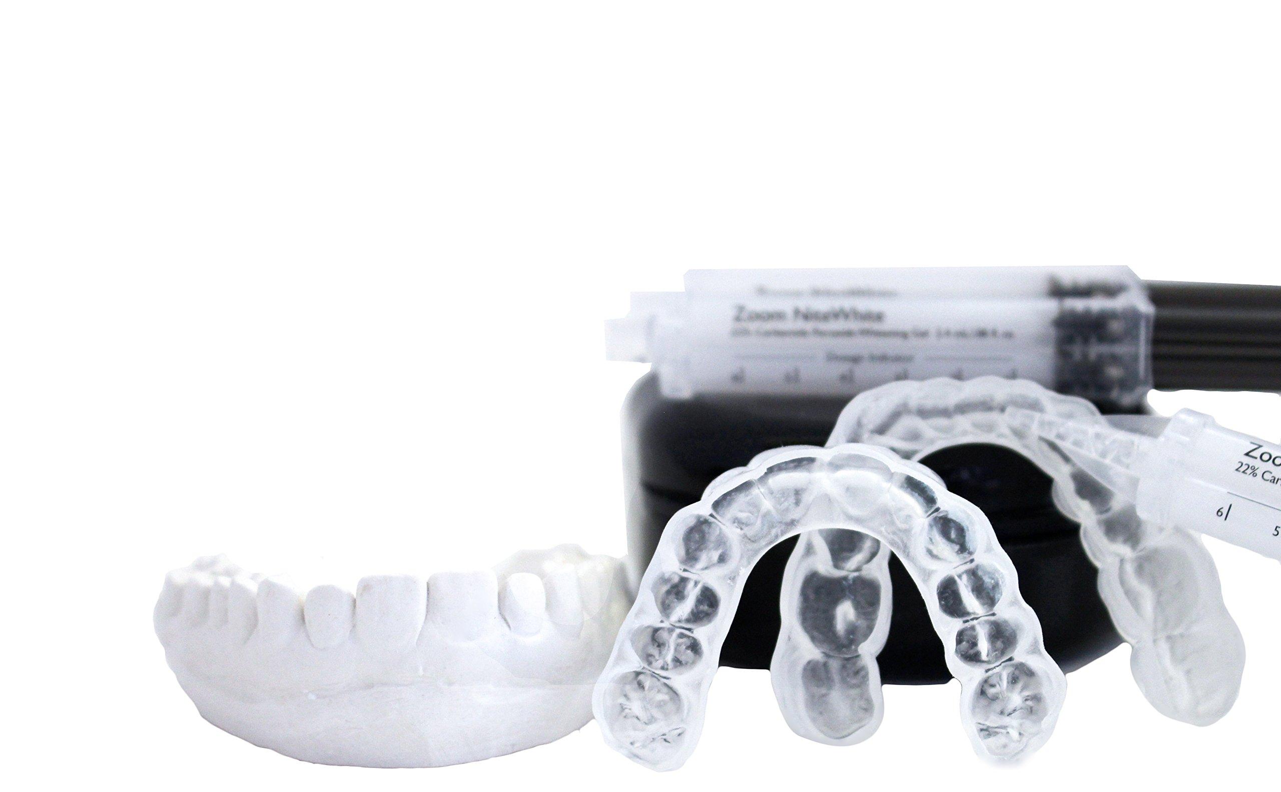 Sentinel Teeth Whitening System Professional Custom Made Thin Dental Trays Just Like the Dentist! Plus Zoom! 22% Whitening Gel (Adult Female)