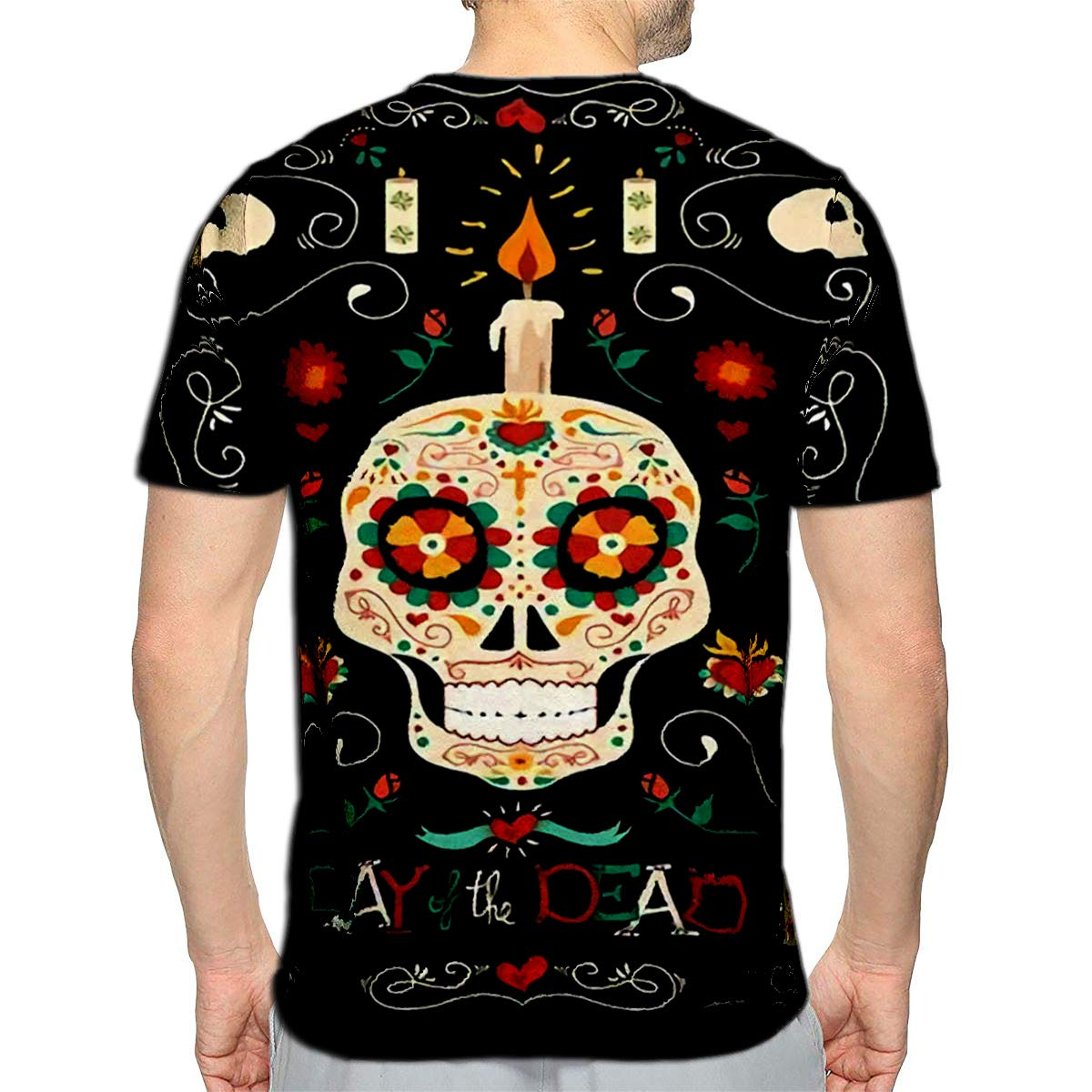 T-Shirt 3D Printed Day of The Dead Banner for Mexican Celebration Casual Tees