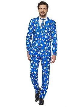 Suitmeister Trajes de Navidad - Christmas Blue Snowman ...