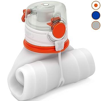 EXIT Botella Plegable - Botellas de Agua de Silicona para Viajar ...