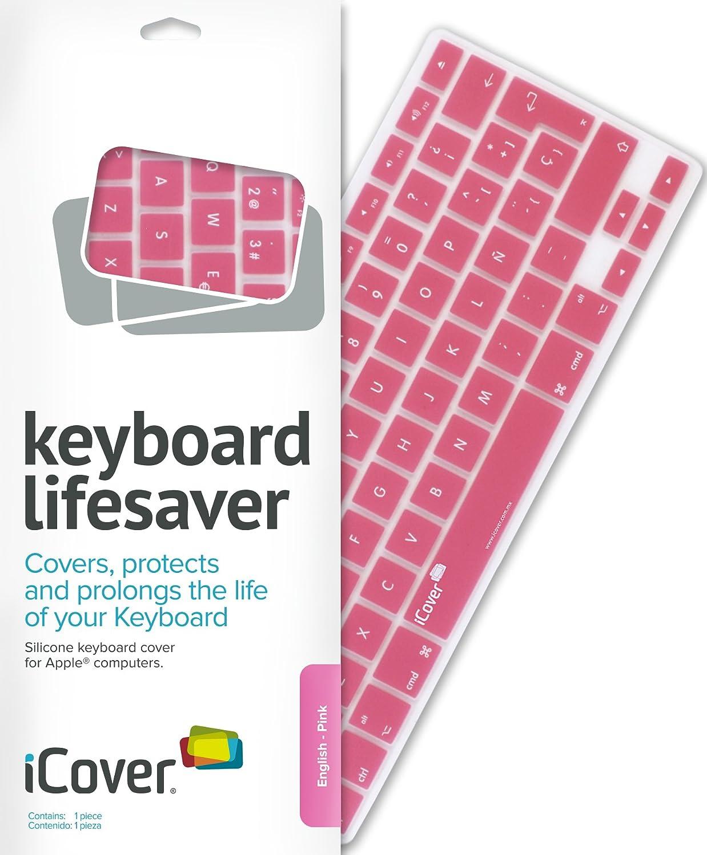iCover Lifesaver - Protector para teclados de Apple, Color Rosa