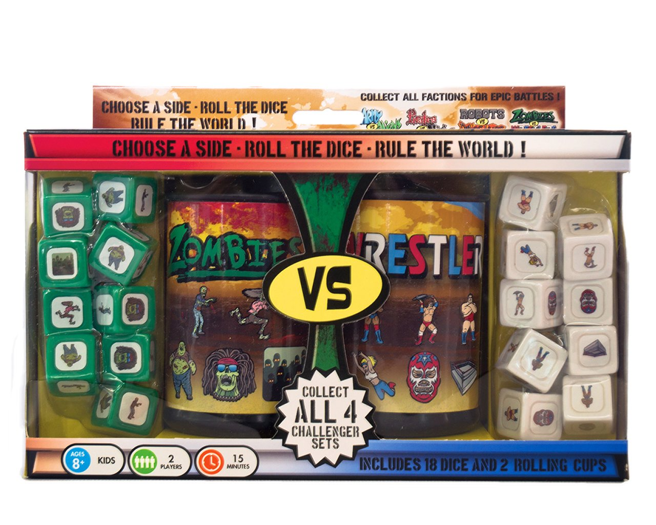 Zombies vs. Wrestlers Dice Game