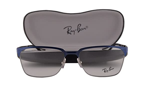 290f549086c Ray Ban RX6344 Eyeglasses 54-17-140 Top Brushed Dark Blue On Gunmetal 2863  RB6344  Amazon.co.uk  Clothing