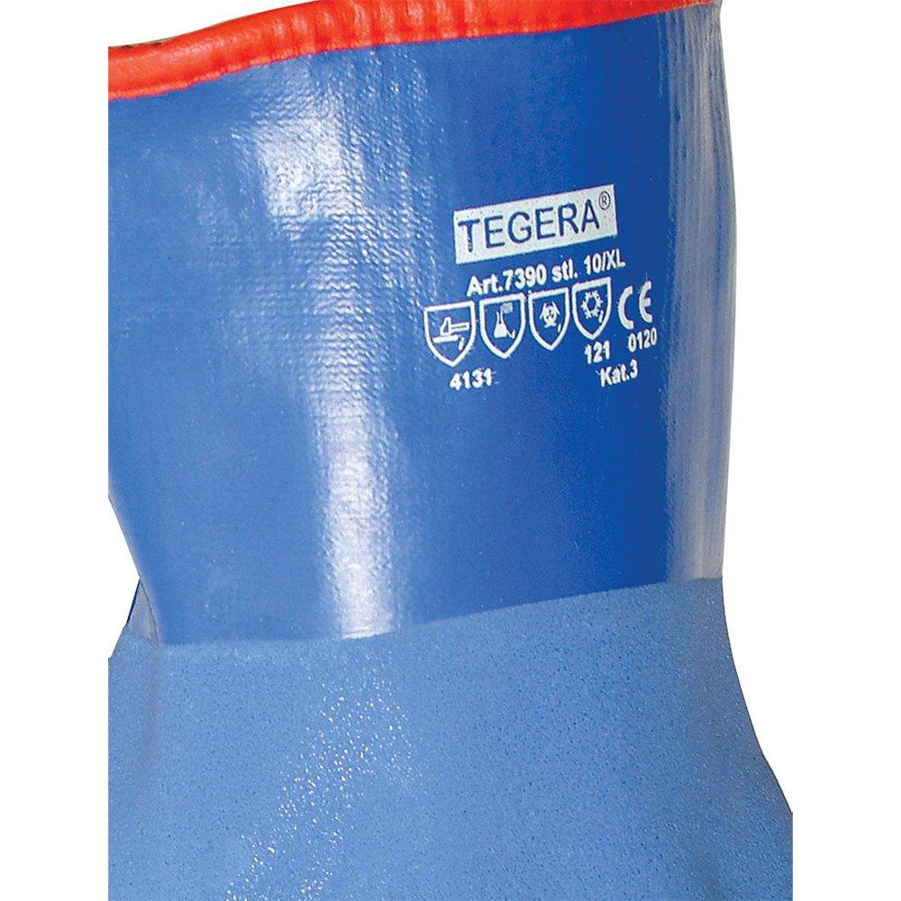 Ejendals 7390 Tegera Vinyl Dipped Gloves Blue Size 10