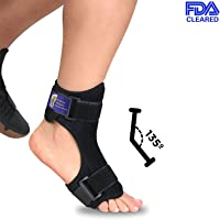(Single) - Everyday Medical Plantar Fasciitis Night Splint - Dorsal Night Splint for Plantar Fasciitis - Ergonomic Arch Foot Stretching Support with Bendable Bar - for Achilles Tendonitis, Heel Pain & Drop Foot
