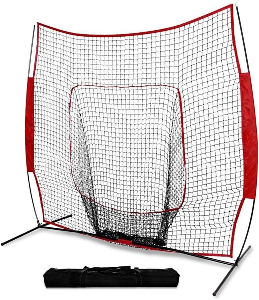 port/átil de 7 7 pies para Interiores y Exteriores Red de pr/áctica de b/éisbol y softbol con Bolsa Asixx Red de pr/áctica de b/éisbol para Entrenamiento de ni/ños