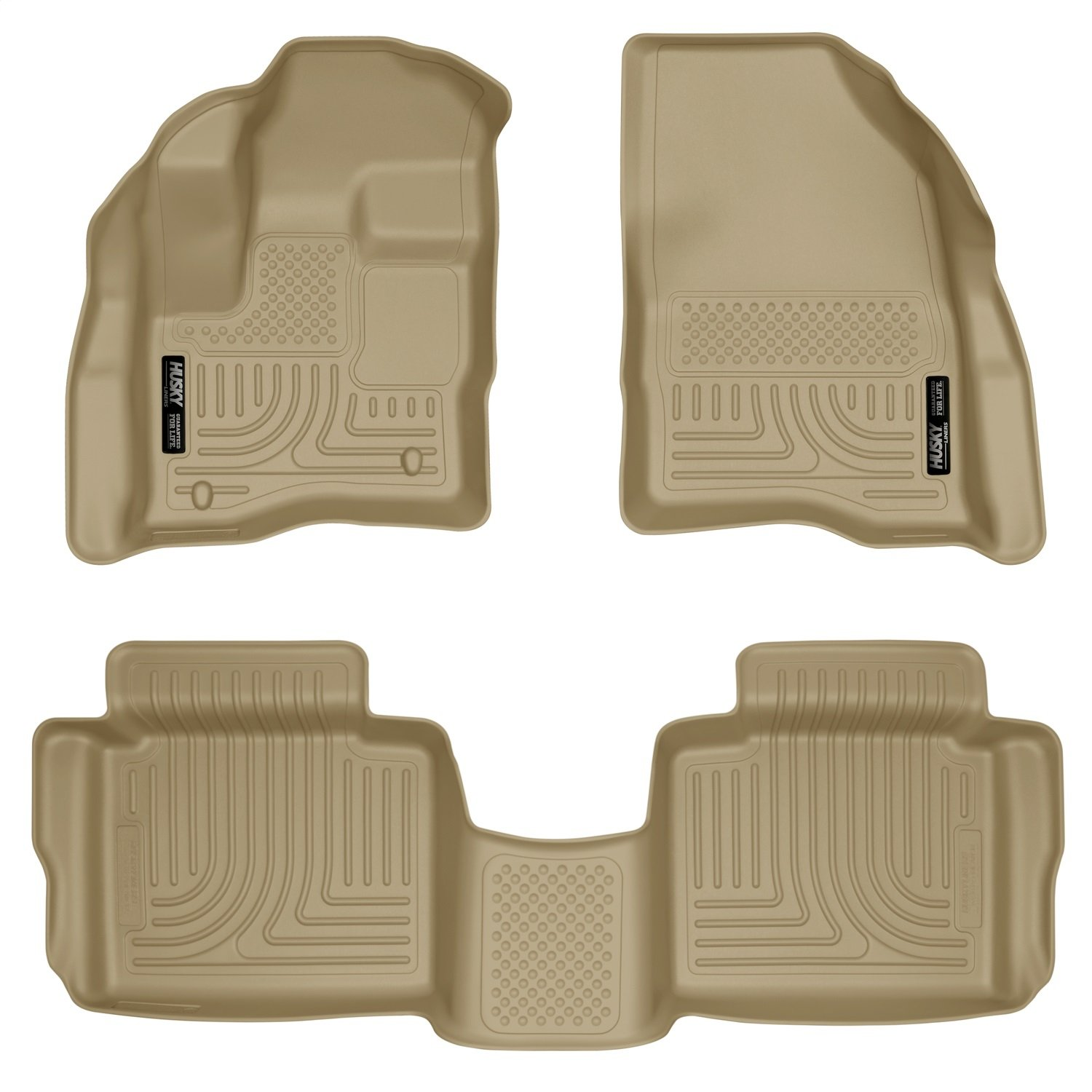 Fits 10-18 Taurus 98703 Husky Liners Front /& 2nd Seat Floor Liners Footwell Coverage
