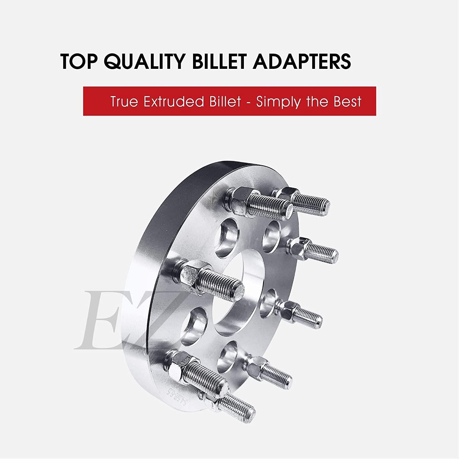 EZAccessory 2 Wheel Adapters 5x4.5 to 8x170 Thickness 1 Inch