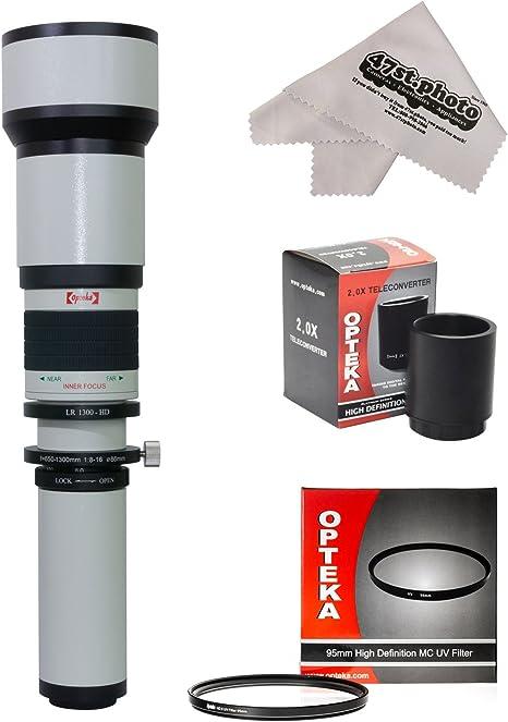 Opteka 650 – 2600 mm Alta Definición teleobjetivo Zoom lente con ...