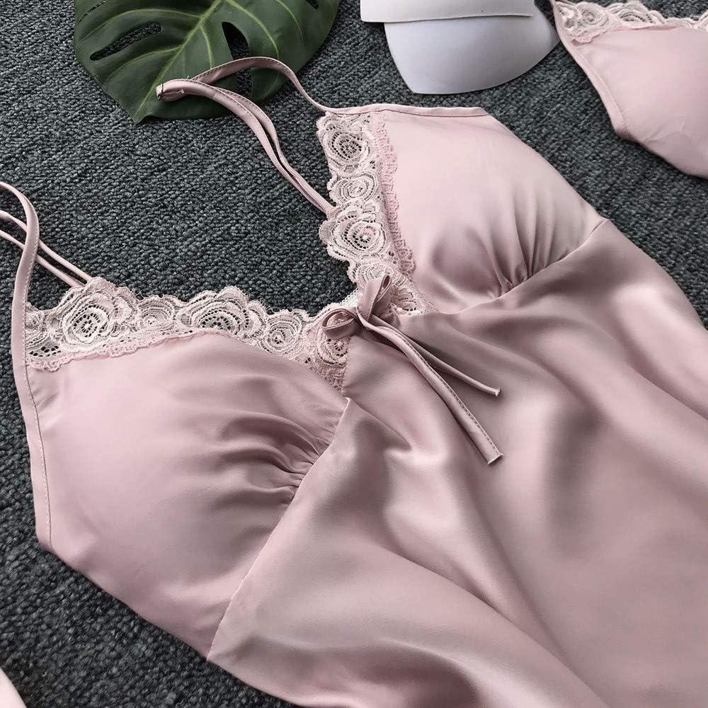 TIFIY Ropa de Dormir Vestido Sexy Mujer Seda Chaleco Kimono ...