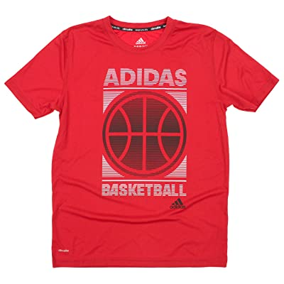 Adidas Big Boys Youth Climalite Court Precision Tee, Red