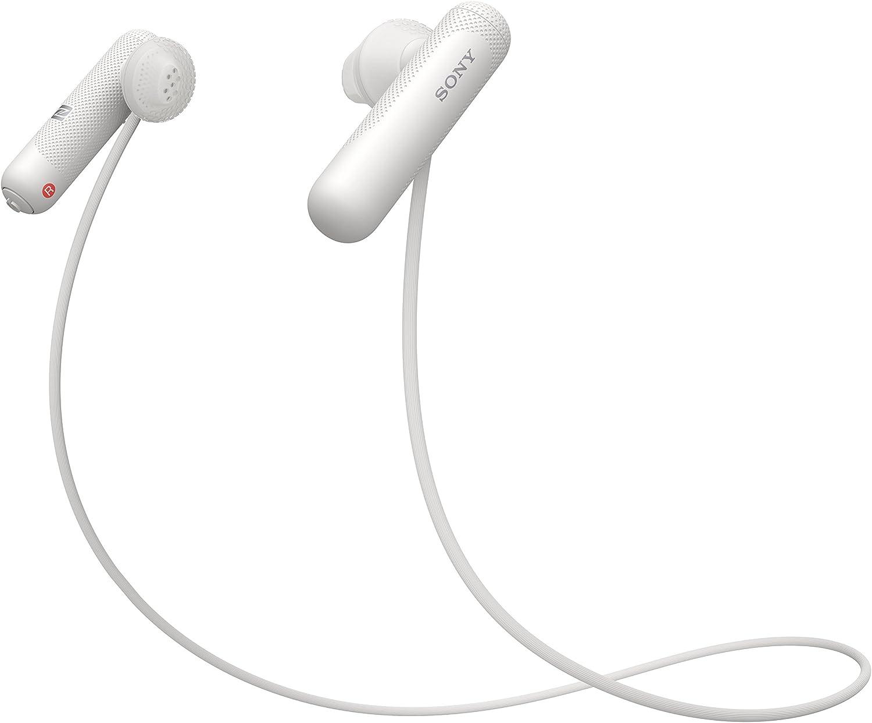 Sony WISP500W.CE7 - Auriculares Deportivos Inalámbricos, con Bluetooth, Color Blanco, Talla Única