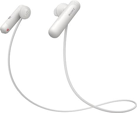 Sony WISP500W.CE7 - Auriculares Deportivos Inalámbricos, con Bluetooth, Color Blanco, Talla Única: Amazon.es: Electrónica