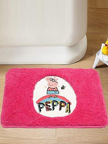 Saral Home Peppa Pig Soft Microfiber Anti Slip Bathmat- 40x60 cm, Pink