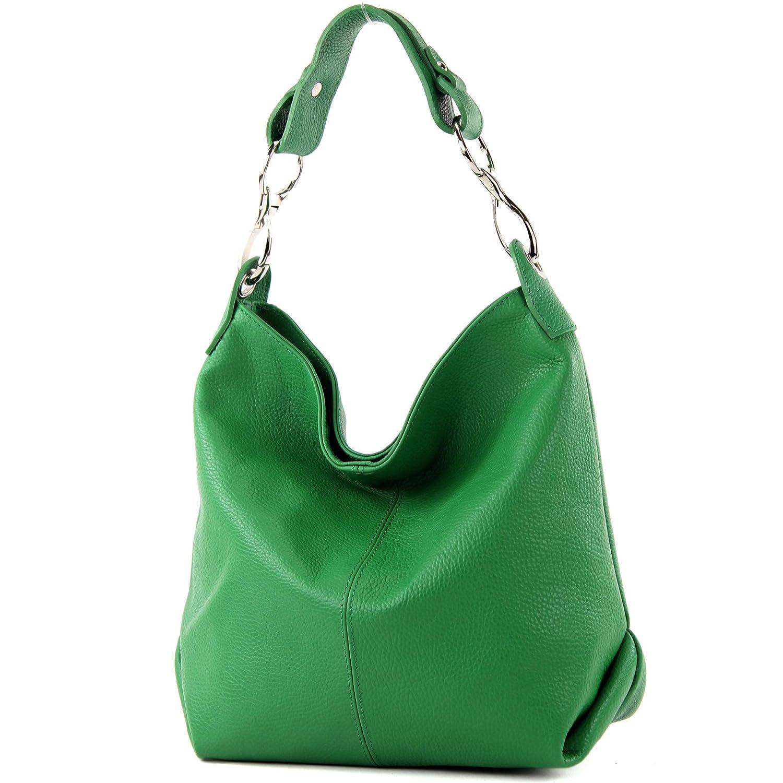 modamoda de – T168 – ital axel/axelväska av läder Bladgrön