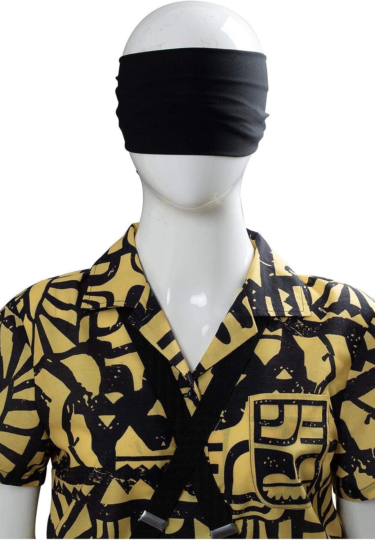 xingyueshop Costume da Serie TV da Donna Eleven Cosplay Camicia A Maniche Corte Nera Gialla