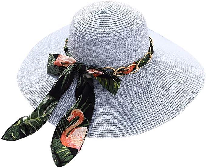fiosoji Sombrero de Paja Grande para Mujer Cúpula de Verano Sombrilla para el Sol Sombrero para el Sol Sombreros para el Sol Viseras de Playa para el Sol: Amazon.es: Ropa y accesorios