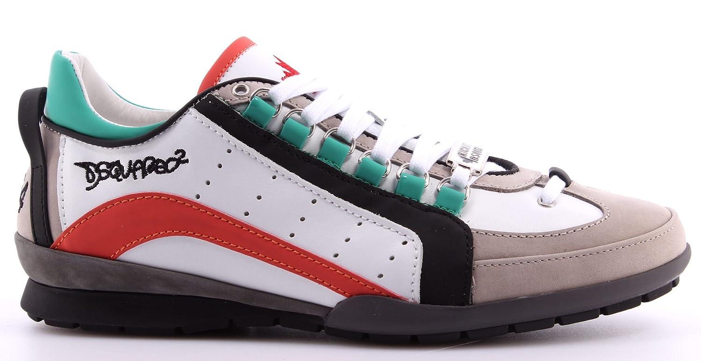 Men s Shoes Sneakers DSQUARED2 551 Vitello Sport White Black Coral Calf ITA  New  Amazon.co.uk  Shoes   Bags 6c49b21b5604