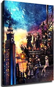 Home Decor Print Oil Painting on Canvas Wall Art Kingdom Hearts (No Framed,12x18inch)