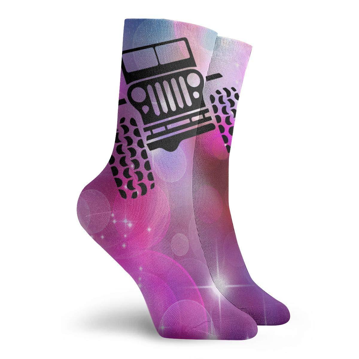 Driver Got Mud Jeep Car Unisex Holiday Sock 30cm Long Sock