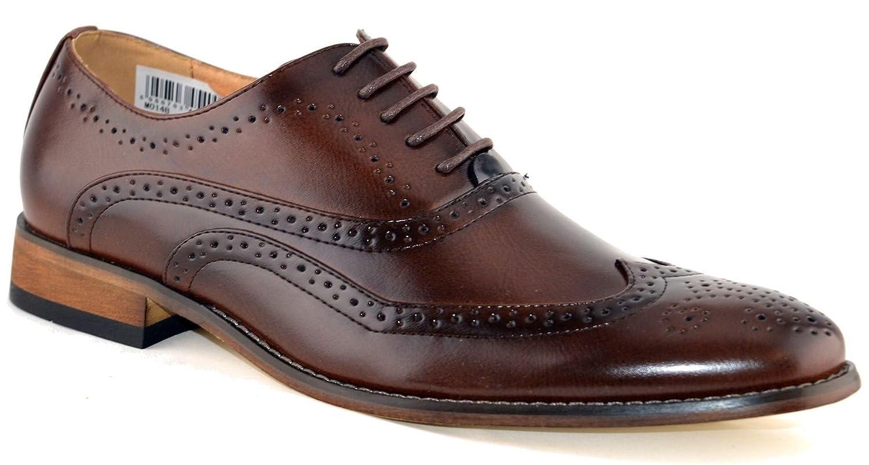 TALLA 42 EU. Zapatos de piel con cordones para hombre, diseño calado, talla 6-12