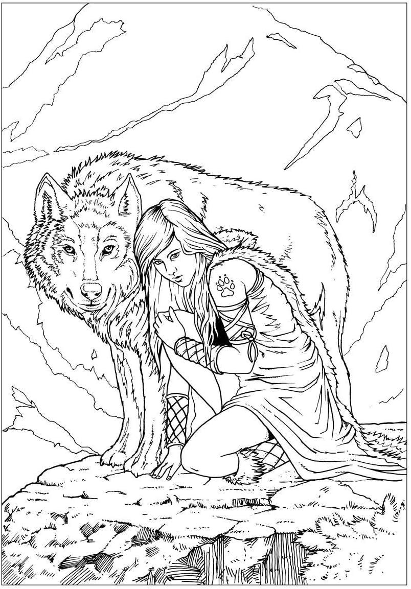 Livre de coloriage Dragons Licornes Cr/éatures mythiques Art fantastique pour adultes et enfants