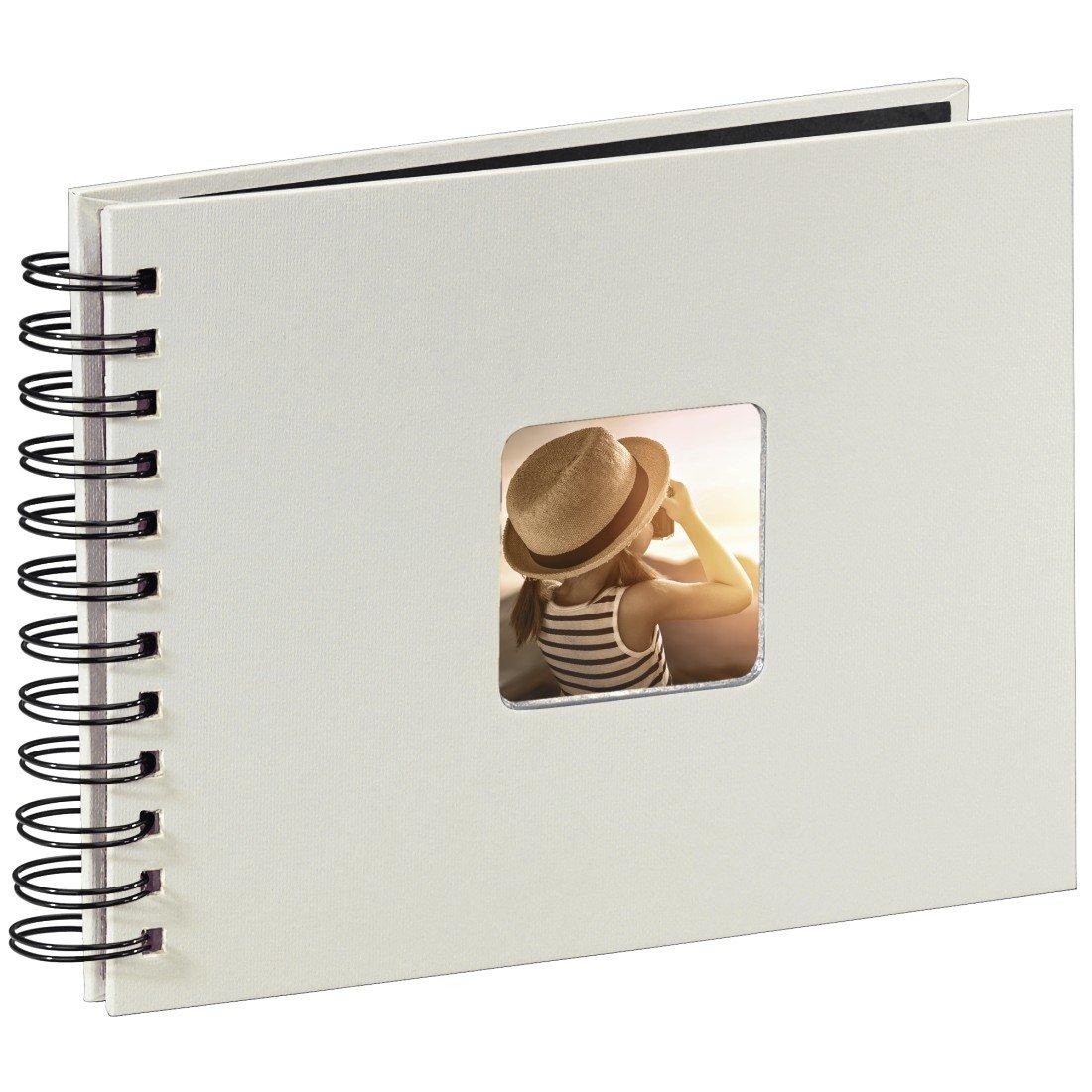 Hama 2107 Album Spiralato Fine Art, 24 x 27 cm, 50 Pagine, 50 Foto, Bianco 00002107